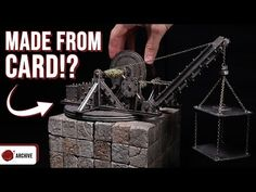 (816) Crafting a Working Crane for D&D, 40k, AOS or Necromunda - YouTube Wargaming Terrain, Build Something, Craft Tutorials, Crane, Crafting, Youtube, Minis, Crafts To Make, Crafts