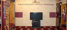 Walsh University Women's Basketball Locker Room Wall Mural. Custom designed, printed and installed by GameDay Vision.