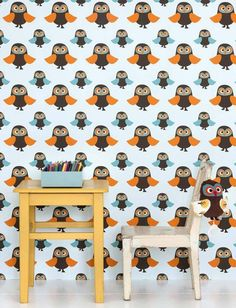 Owls | Wallpaper from the 70s