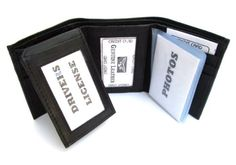 Mens wallets  - Pin it :-) Follow us .. CLICK IMAGE TWICE for our BEST PRICING ... SEE A LARGER SELECTION of mens wallets at  http://azgiftideas.com/product-category/menss-wallets/ men, mens gift ideas, mens wear, valentines  - Mens Black Leather Wallet Lambskin