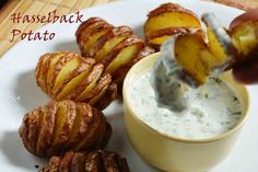 Swedish Hasselback Potatoes A perfect party appetizer #bakedpotato #swedish #hasselback_potatoes #frilly #creamy #thanksgiving #Christmas #baked #dinner #delicious Recipe at: www.annapurnaz.in