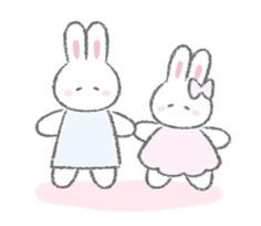 The fluffy bunny sticker 10 – LINE stickers Cute Love Memes, Fluffy Bunny, Cute Doodles, Aesthetic Images, Cute Chibi, Line Sticker, Kawaii Cute, Yandere, Cute Cartoon