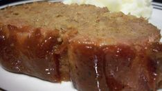 After traveling in eastern Ohio and eating many different Amish-style meatloaves, I finally asked for this wonderful meatloaf recipe. This one is not as sweet as the typical Amish recipe and has some garlic flavoring in it. Amish Meatloaf Recipe, Best Meatloaf, Meatloaf Recipes, Meat Recipes, Cooking Recipes, Recipes Dinner, Beef Dishes, Food Dishes, Beef Recipes