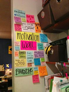 Motivation wall-must do this!