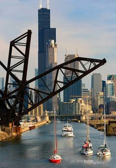 Chicago, Illinois, By Barry Butler Photography Chicago Loop, Chicago River, Chicago City, Chicago Skyline, Chicago Illinois, Illinois State, Lago Michigan, New York Washington, My Kind Of Town