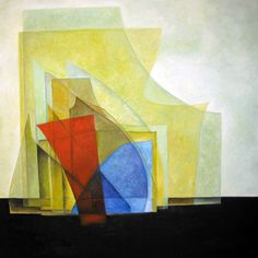 Lyonel Feininger, Glasscherbenbild (Broken Glass), 1927, oil on canvas