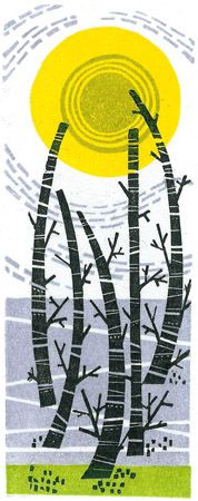 Angie Lewin - Five Trees