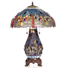 Shop for Tiffany-style Dragonfly Lamp with Lighted Base. Get free delivery On EVERYTHING* Overstock - Your Online Lamps & Lamp Shades Store! Get in rewards with Club O! Dragonfly Floor Lamp, Tiffany Style Lighting, Lamp, Tiffany Style Table Lamps, Tiffany Style Lamp, Warehouse Of Tiffany, Glass Design, Stained Glass Lamps, Nightstand Lamp