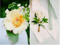 Stunning flowers with subtle orange and peach hues done by the talented Sarah Winward of Honey of a Thousand Flowers.