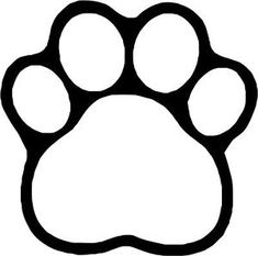 Dog Paw~ Decal Cartoon Vinyl Sticker Laptop Car Window Black or White! Print Templates, Print Patterns, Paw Print Clip Art, Lion Paw, Paw Patrol Party, Dog Crafts, Painted Doors, Dog Paws, Vinyl Art