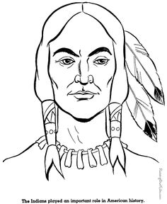 free printable coloring pages for adults | Native American Indian coloring pages 008
