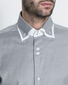 CAMISA DOBLE CUELLO ESTRUCTURA - Camisas - Hombre   ZARA España