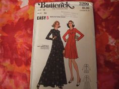 Butterick Pattern 3299 cut and complete size 14