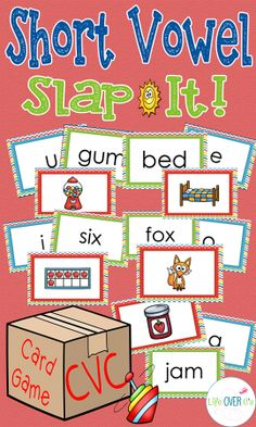 A Slap Jack-style game for building short vowel recognition with CVC words and pictures. An out-of-the-box way to get students reading and listening. $