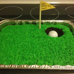 Golf cake I made for fathers day