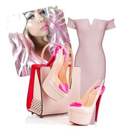 """Pink"" by leachic on Polyvore featuring Christian Louboutin, women's clothing, women, female, woman, misses and juniors"