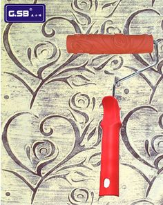 Diatom ooze tools tv background wallpaper patterned paint roller ...