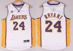Los Angeles Lakers #24 Kobe Bryant Revolution 30 Swingman 2014 New White Jersey