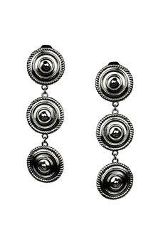 Minerva Black Rhodium Clip Earrings