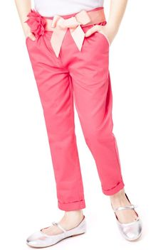 Autograph Pure Cotton Twin Pleat Chinos with Belt - Marks & Spencer