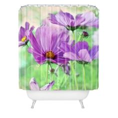 Lisa Argyropoulos Among The Cosmos Shower Curtain | DENY Designs Home Accessories