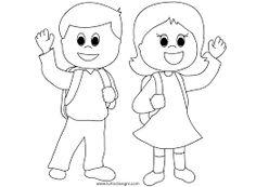 Risultati immagini per bimbi a scuola disegni