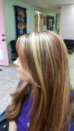 This Beautiful young lady got her Hair colored for Fall at Salon C