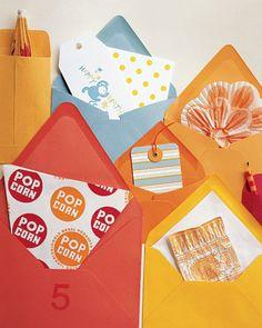 peekaboo lined envelopes