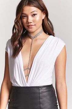 Product Name:Rhinestone Harness Body Chain, Category:ACC, Sexy Outfits, Trendy Outfits, Fashion Outfits, Shop Forever, Forever 21, Blonde Model, Fashion Beauty, Beauty Style, Latest Trends