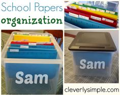 Are you looking for a way to organize all the papers, pictures and priceless works of art your child created this year at school? This week I made an item