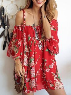 Shop Red Spaghetti Strap Sakura Floral Print Blouse from choies.com .Free shipping Worldwide.$12.99