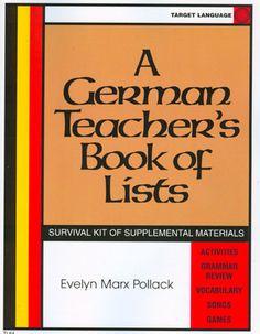 German Teacher's Book of Lists