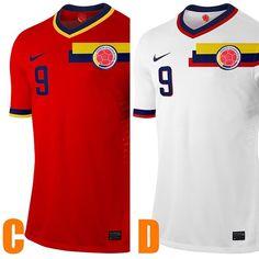 #seleccionColombiana rojo vs blanco para la segunda equipación