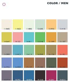 Trend colors spring/summer 2013/14 men