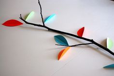 Leaf Centerpiece by two straight lines, via Flickr