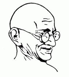 Mahatma Gandhi Coloring Pages