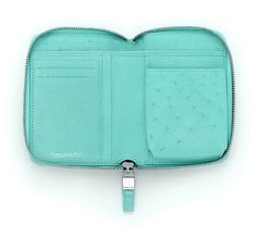 Tiffany & Co. | Item | Tiffany smart zip wallet in Tiffany Blue® ostrich.