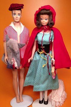 Vintage Barbie 1964 Little Red Riding Hood 880 Midge Ken Dolls   eBay