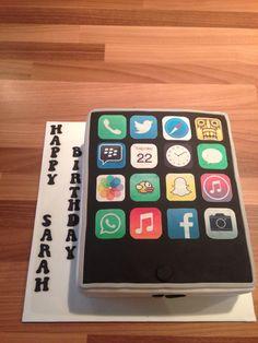 iPad iPhone birthday cake
