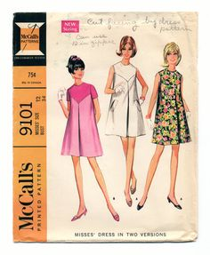 McCall's 9101 Mod Baby Doll Dress Pattern by TheBeetlesNeedles