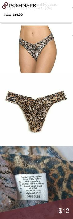 0e3b34a91a3 hanky panky thong undie style 4x1181in one size animal print in signature  lace