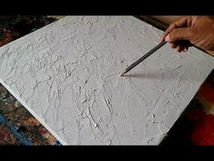 How to texture canvas / Texturing canvas with GESSO for abstract painting / Demonstration - YouTube
