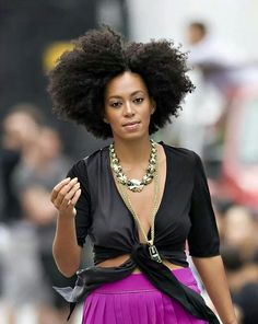 Solange!! Love her natural hair!! (And her style!)
