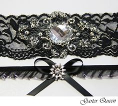 Black Lace Garter OFF Sale Bridal Set Gothic Wedding