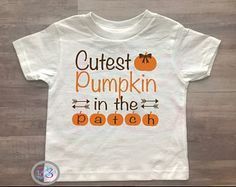 Cutest Pumpkin In The Patch, Thanksgiving, Fall, Kids Clothing, Baby Clothing, Turkey Day, Cute Thanksgiving Clothes, Baby Girl,Toddler Girl