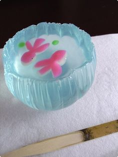 "Wagashi ""fish bowl"" - inspiration only, no recipe"