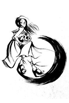 〈月姫〉 貴方と私のシャレコウベ 筆特訓弐拾肆