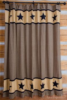Country Stars Amp Hearts Bathroom Shower Curtain Primitive Country Decor Bathroom Shower