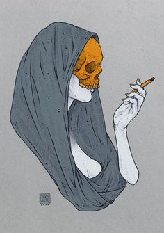 eatsleepdraw:  hooded skull woman | by chris esze