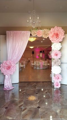 : This is the place I want the backdrop curtains but I don't want the curtains. : This is the place I want the backdrop curtains but I don't want the curtains like this di compleanno Baptism Decorations, Stage Decorations, Balloon Decorations, Birthday Decorations, Baby Shower Decorations, Wedding Decorations, Sweet 16 Birthday, Baby Birthday, Birthday Parties